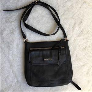 Cole Haan Black Leather Crossbody Bag